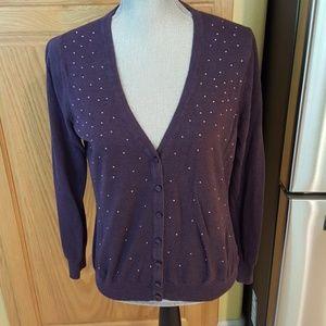 Merona Purple Cardigan size L